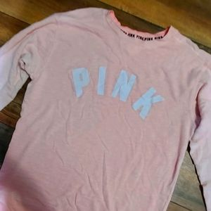 Pink victorias secret pullover coral size small